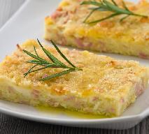 Ciasto ziemniaczane z szynką -  super przepis na danie z resztek!