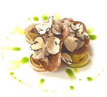 Pory confit z szalotką, taleggio i czarną truflą - przepis na wykwintne danie