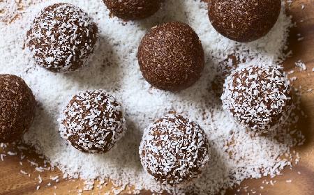 Dietetyczne kulki czekoladowo-owsiane