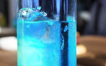 Sherry drink - napój orzeźwiający z dodatkiem blue curaçao