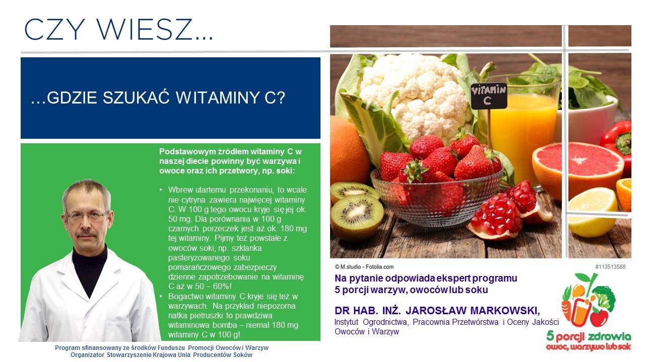 5 porcji warzyw i owoców. Infografika.